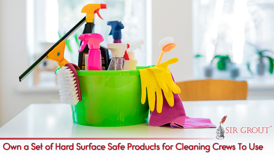 Keep Your Own Set of Safe Products for the Use of Your Cleaning Company
